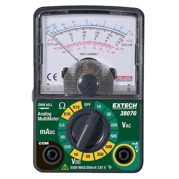 Extech 38070. Аналоговий міні-мультиметр.