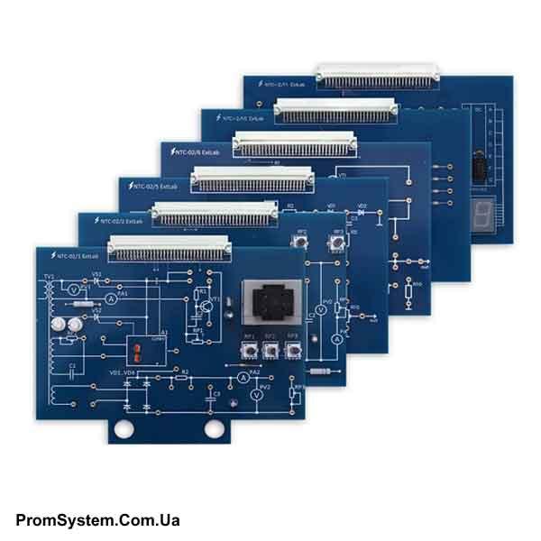 Набір змінних панелей НТЦ-02 ExtLab «Електроніка, схемотехніка, обчислювальна та мікропроцесорна техніка». Навчально-лабораторний стенд.