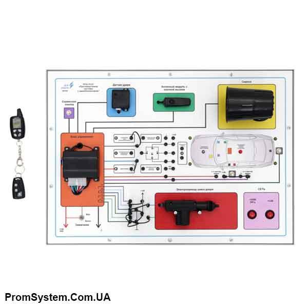 НТЦ-15.21. Протиугонна система з іммобілайзером. Навчально-лабораторний стенд.