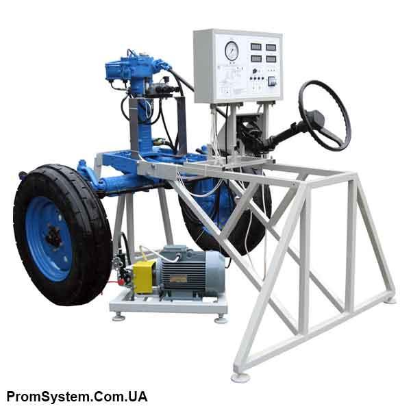 НТЦ-15.39. Випробування і діагностування рульового управління трактора з гідропідсилювачем інтегрального типу. Навчально-лабораторний стенд.