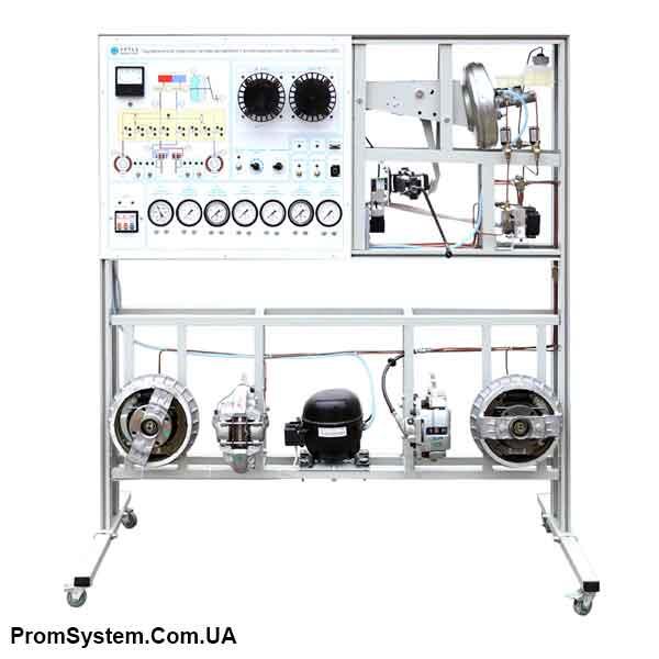 НТЦ-15.41.1. Гідравлічна гальмівна система автомобіля з антиблокувальною системою гальмування (ABS). Навчально-лабораторний стенд.