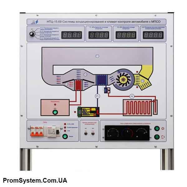 НТЦ-15.69. Системи кондиціонування і клімат-контролю автомобіля з МПСО. Навчально-лабораторний стенд.