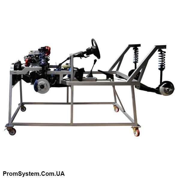 НТЦ-15.93. Розрізна модель шасі передньопривідного автомобіля з бензиновим двигуном. Навчально-лабораторний стенд.