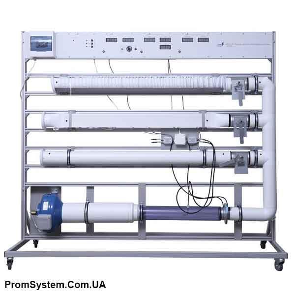 НТЦ-16.71. Газова динаміка вентиляційних систем. Навчально-лабораторний стенд.