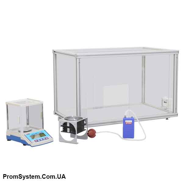 НТЦ-17.55.10. Пилова камера для визначення запиленості повітря масовим методом. Навчально-лабораторний стенд.