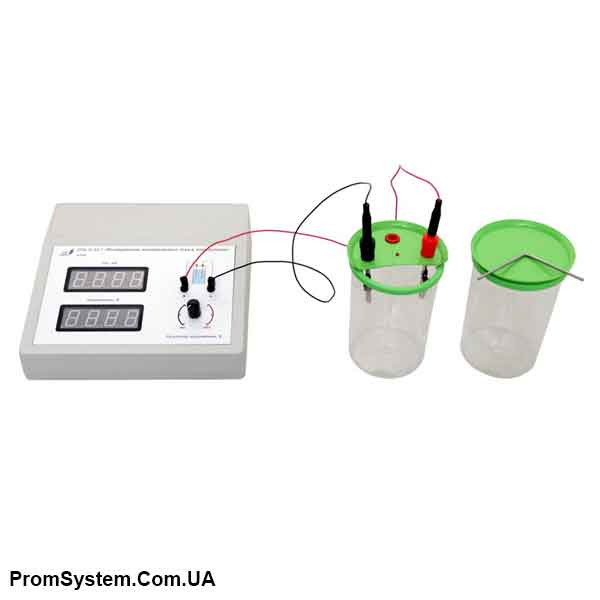 НТЦ-22.03.7. Дослідження електричного струму в електролітах. Навчально-лабораторний стенд.