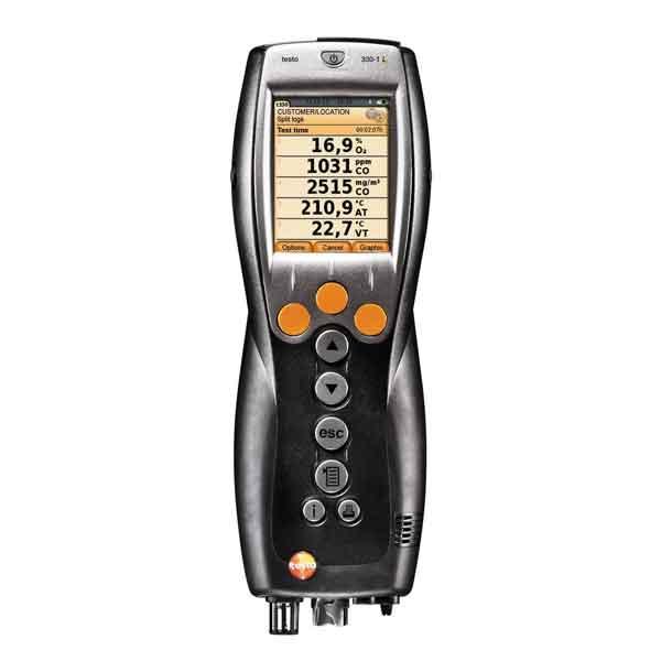 Testo 330-1 LL. Газоанализатор дымовых газов с Bluetooth (базовый комплект).